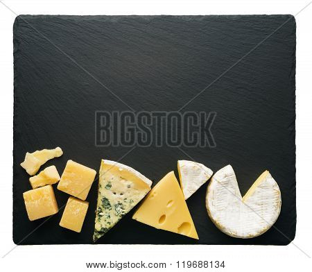 Different varieties of cheese
