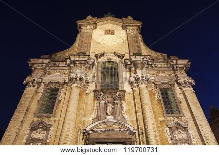 Church of Saints Peter and Paul on Veemarkt in Mechelen. Mechelen Flemish Region Belgium poster