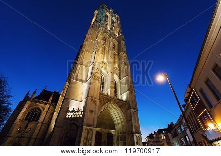 Saint Rumbold's Cathedral in Mechelen. Mechelen Flemish Region Belgium