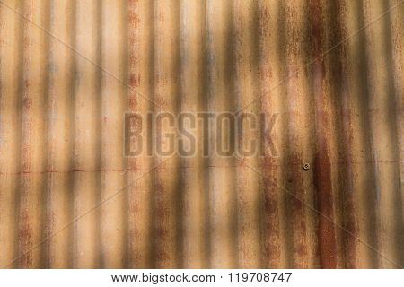 Closeup Of The Weathered And Rust Zinc Sheet