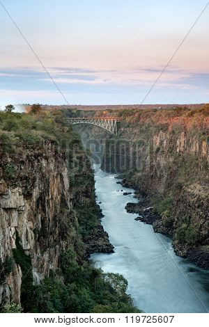 Batoka Gorge and the Victoria Falls bridge.