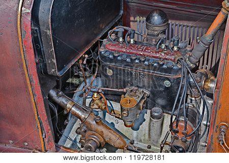 Engine Of Classic Car Fiat 501 S (1921)