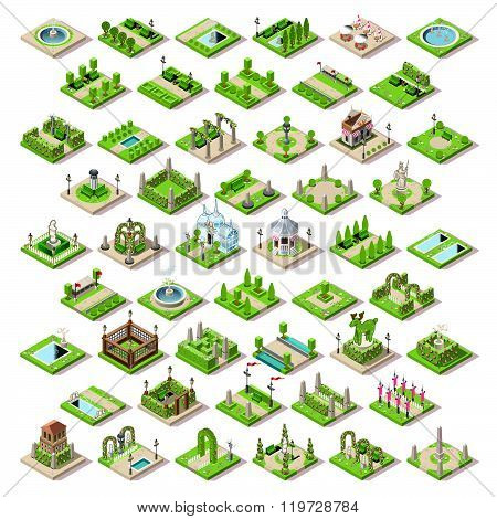 Game Set 13 Building Isometric