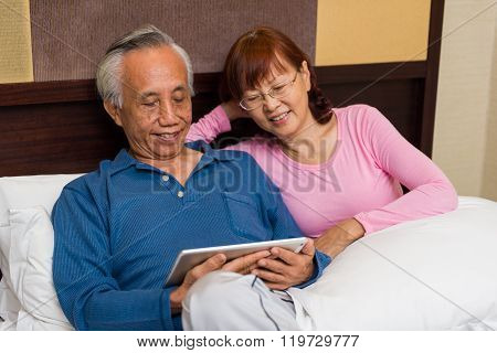 Senior Couple Sharing Entertainment