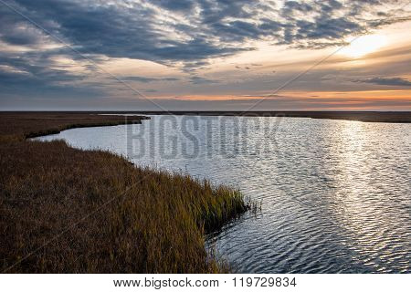 Sunset On The Arctic Coastal Plain