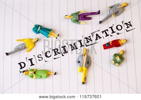 Discrimination Text On Paper, Disabled People