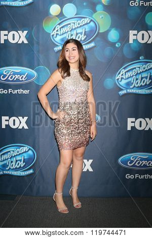 LOS ANGELES - FEB 25:  Gianna Isabella at the American Idol Farewell Season Finalists Party at the London Hotel on February 25, 2016 in West Hollywood, CA