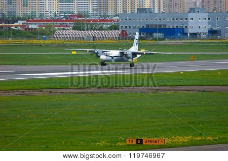 Flight Tests And Systems Airlines Antonov An-26Kpa  Aircraft In Pulkovo International Airport In Sai