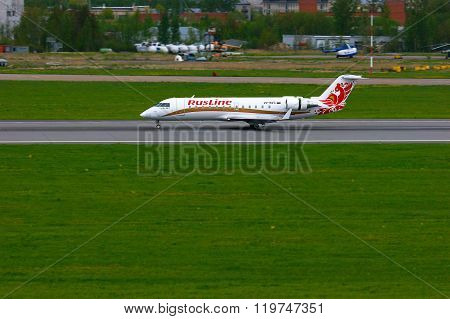 Rusline Airlines Bombardier Canadair Regional Jet Crj-200 Aircraft In Pulkovo International Airport