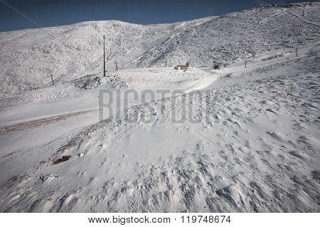 Sunny Snowy Weather On Mount Parnassos, Central Greece