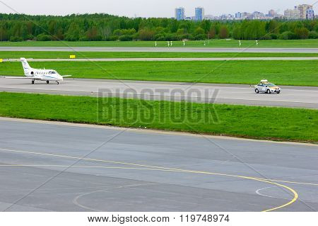 Fortaero Baltic Airline Hawker Beechcraft 400Xp Aircraft In Pulkovo International Airport In Saint-p