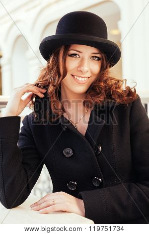 Portrait Of Beautiful Smiling Young Girl