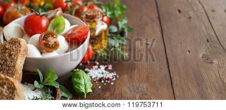 Italian Ingridients For Caprese Salad