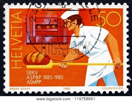 Postage Stamp Switzerland 1985 Baker