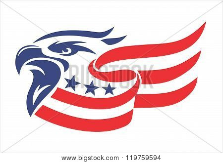 Eagle Head american flag