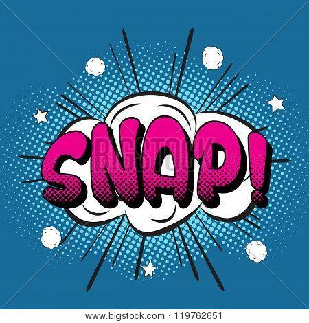 Snappop art retro style