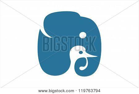 Duck and Elephant Head