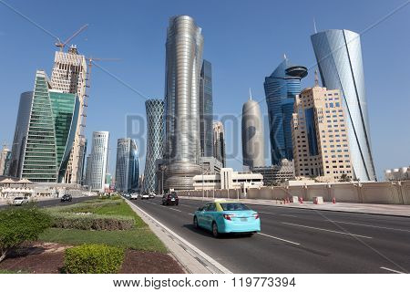 Doha Downtown Skyscrapers, Qatar