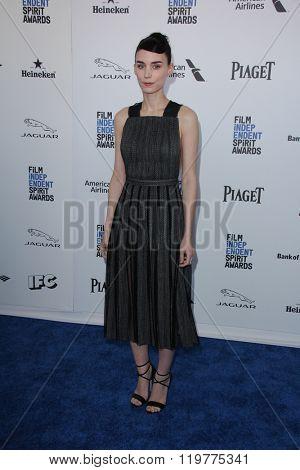 LOS ANGELES - FEB 27:  Rooney Mara at the 2016 Film Independent Spirit Awards at the Santa Monica Beach on February 27, 2016 in Santa Monica, CA