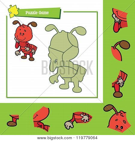 Puzzle game ant