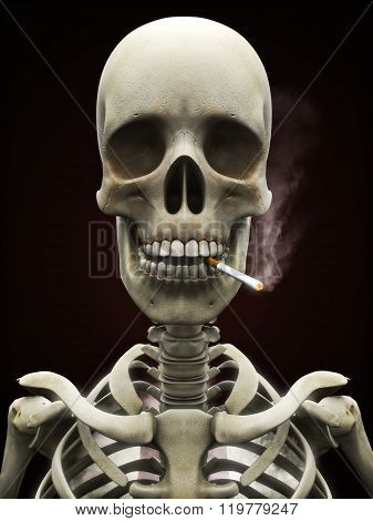 Dangers of smoking concept