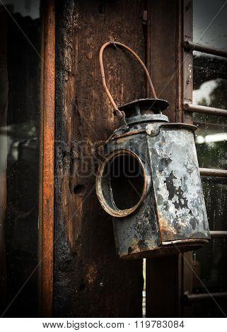 Old railway sgnal lantern