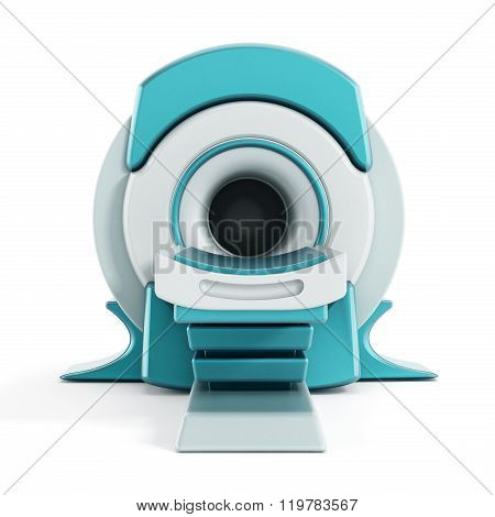 Magnetic Resonance Imaging MRI system isolated on white background. poster