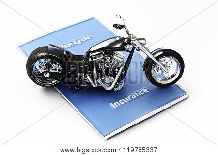 Motorcycle insurance concept.