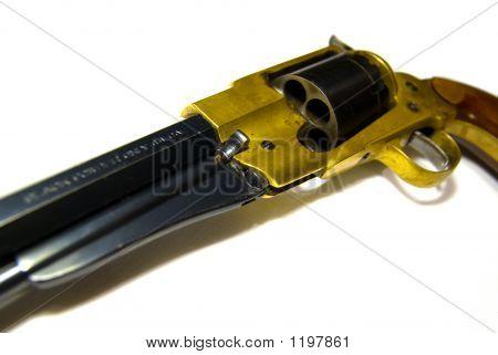 Isolated Revolver On White Background.