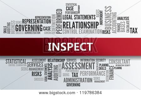 INSPECT | Business Abstract Concept