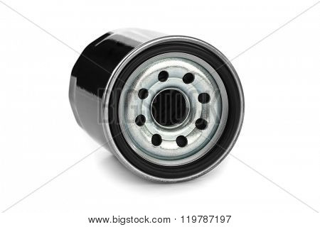 New oil filter car isolated on white background