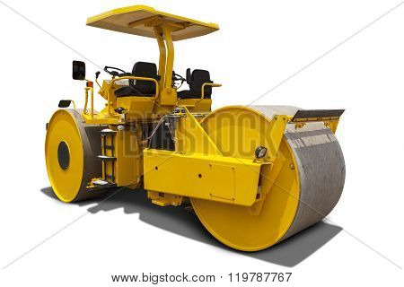 Yellow Roller Compactor Machine