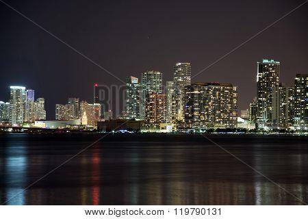 Night Over Miami, Florida, Usa