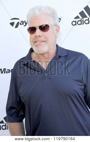 Ron Perlman arrives at the inaugural Stephen Bishop celebrity golf invitational benefiting R.A.K.E. on Feb. 15, 2016 at Calabasas Country Club in Calabasas, CA.
