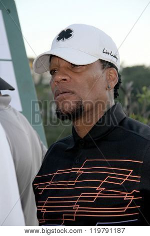 D.L. Hughley at the inaugural Stephen Bishop celebrity golf invitational benefiting R.A.K.E. on Feb. 15, 2016 at Calabasas Country Club in Calabasas, CA.