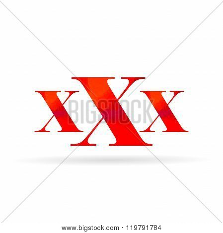 Xxx,elegant Design On White Background