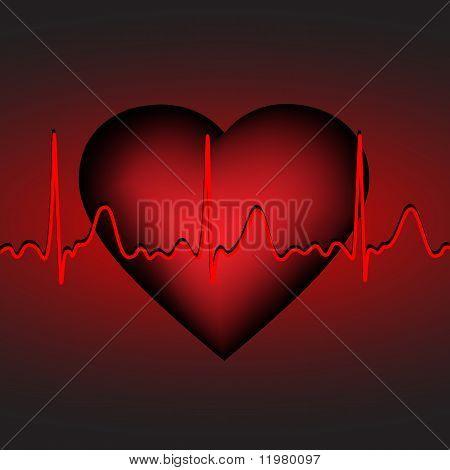 Heartbeat , vector illustration, eps10