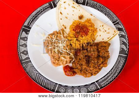 Mexican Carne Guisad Plate