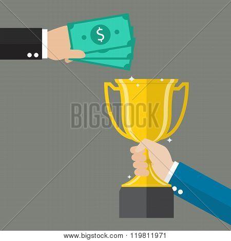 Money For A Winning Trophy