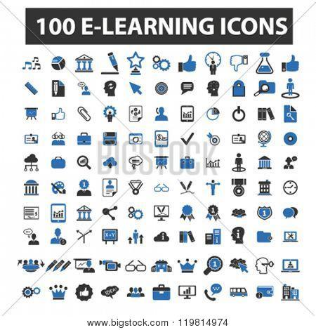 e-learning icons, e-learning logo, e-learning vector, e-learning flat illustration concept, e-learning infographics, e-learning symbols,