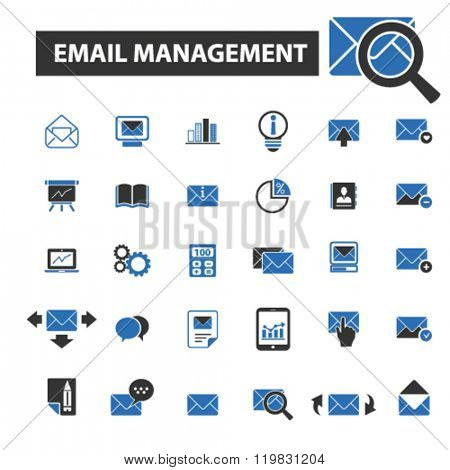 email management icons, email management logo, email management vector, email management flat illustration concept, email management infographics, email management symbols,