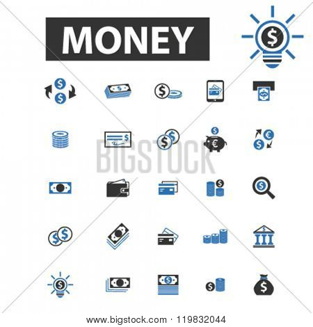 money icons, money logo, money vector, money flat illustration concept, money infographics, money symbols,