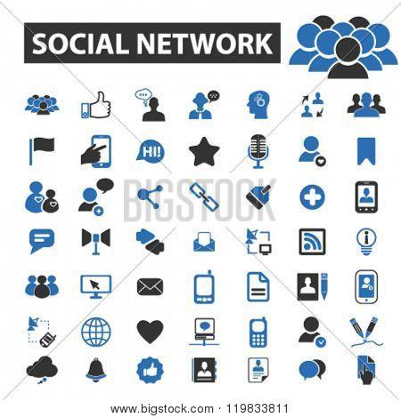 social network icons, social network logo, social network vector, social network flat illustration concept, social network infographics, social network symbols,