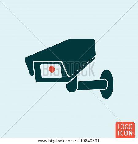 CCTV icon. CCTV logo. CCTV symbol. Secure camera icon isolated, minimal design. Vector illustration poster