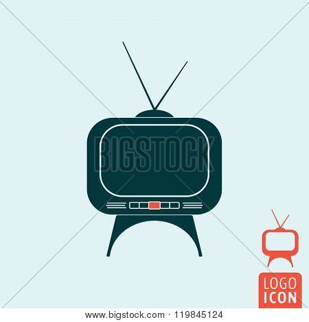 Tv Set Icon Isolated