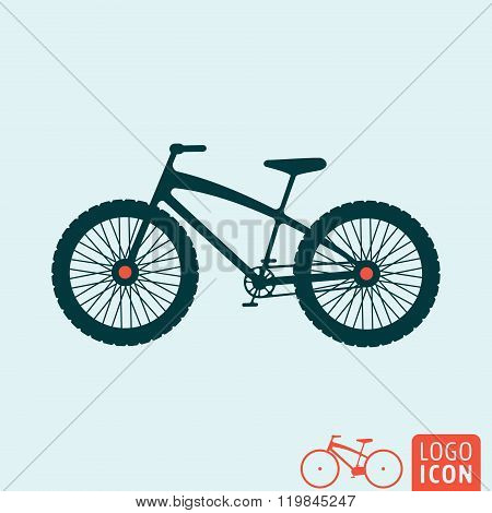 Bicycle Icon Isolated
