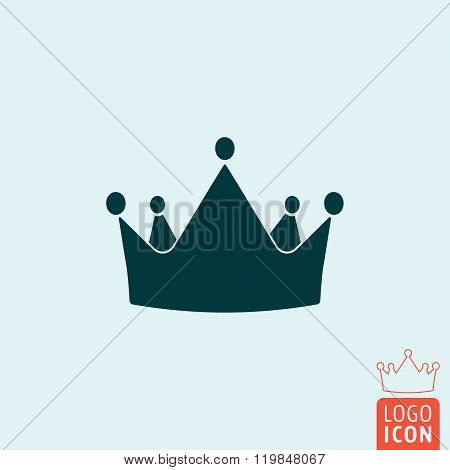 Crown Icon Isolated