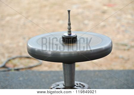 Gasing or tops spinning