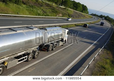 fuel truck on the move