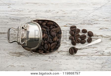 Coffee Beans In A Luxury Setting